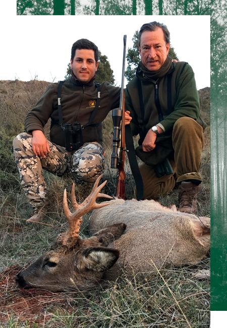 Rehbock Jagd in Spanien