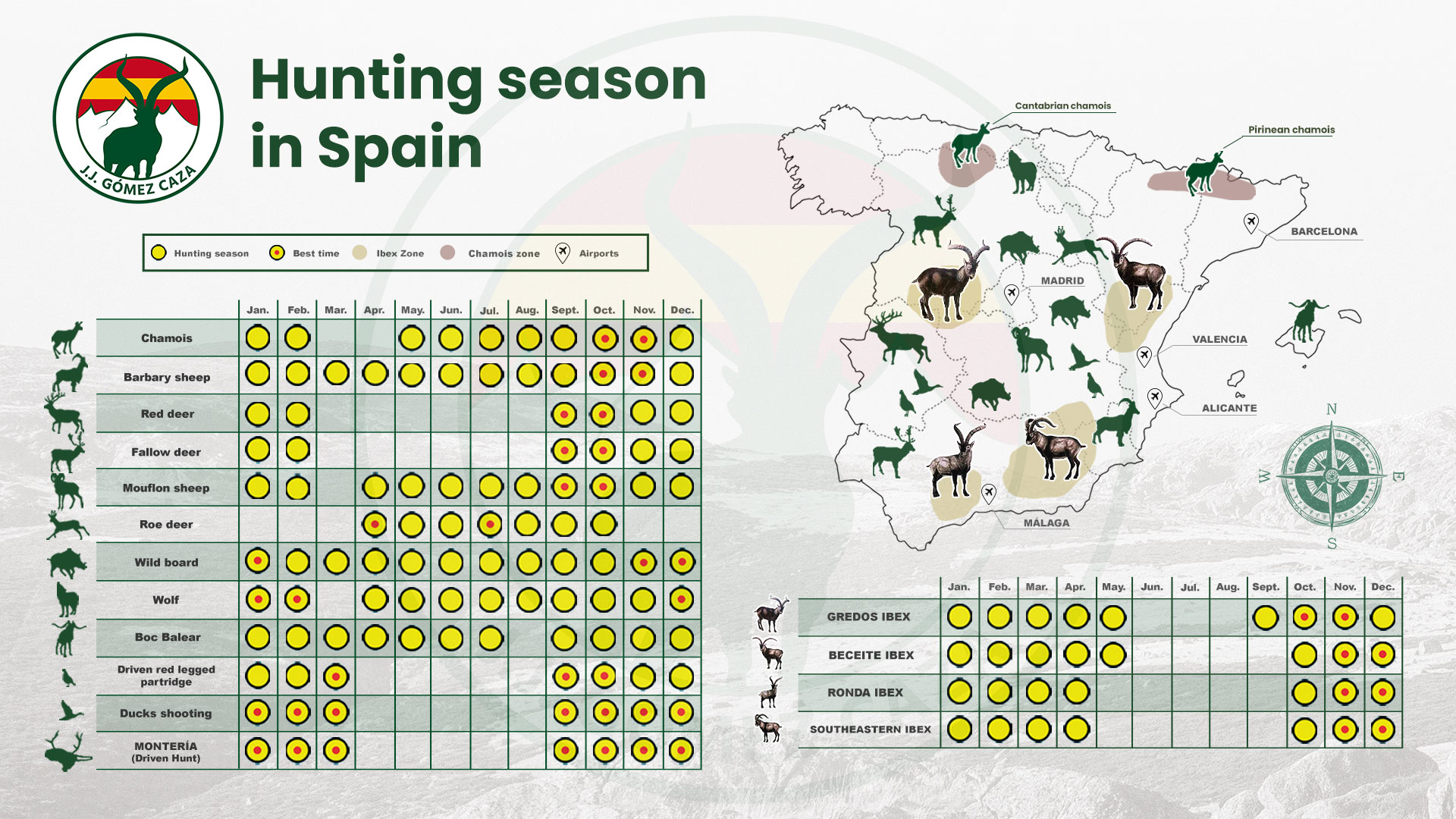 Hunting season in Spain, hunt in Spain, hunting in Spain