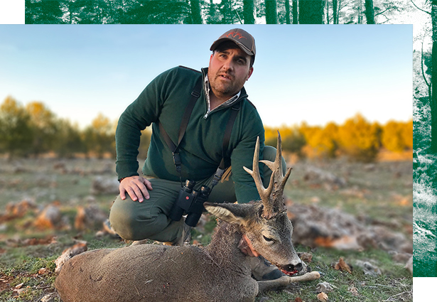 Hunting Roe Deer in Spain, hunt roe deer Spain, Iberia hunt roe deer Spain gold medal, hunting roebuck Spain gold medal, hunt iberian roebuck