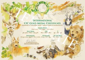 CIC Evaluation and measurement of hunting trophies, certificates homologation CIC, CIC homologation, trophy homologation CIC, evaluation measurement trophys Europe